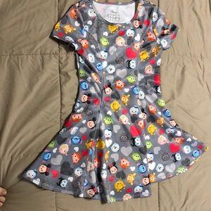 Disney tsum tsum fit and flare dress. EUC